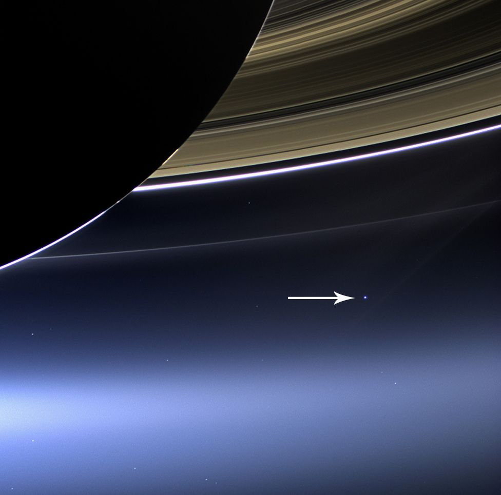 Pale Blue Dot from Cassini-Huygens (2013)