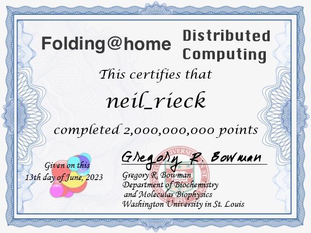 FAH certificate