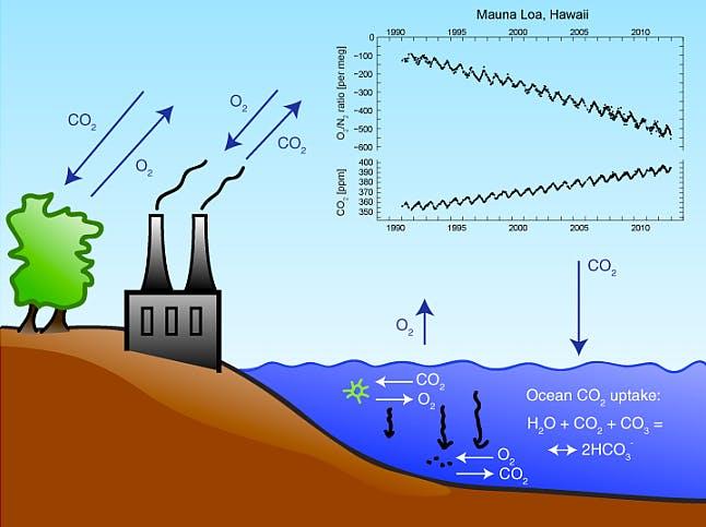 atmospheric oxygen in decline